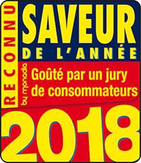 Logo Saveur de l'Année 2018 Crème de Marrons vanillé Léonce Blanc
