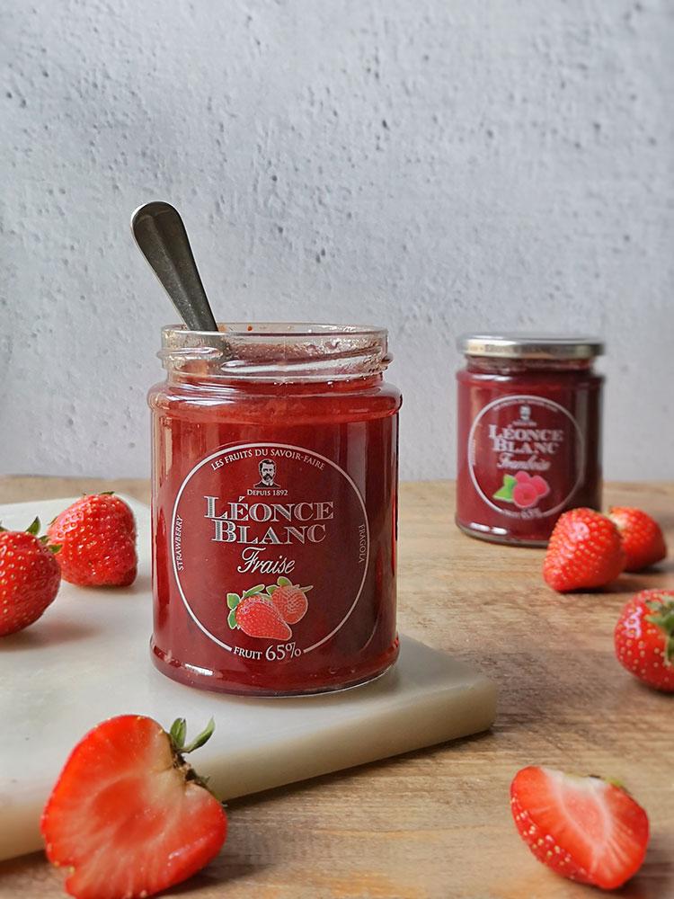 Confiture de fraises Délices et Raffinement Léonce Blanc
